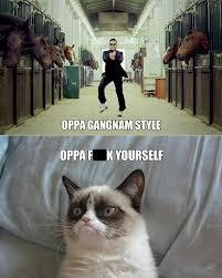 Grumpy Cat on Gangnam Style