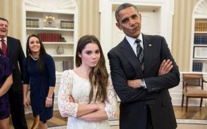 McKayla Is Unimpressed With The POTUS