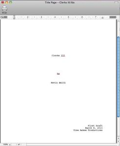 Clerks III Title Page