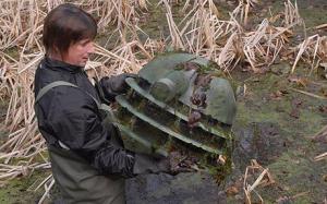 Dalek Head in Pond