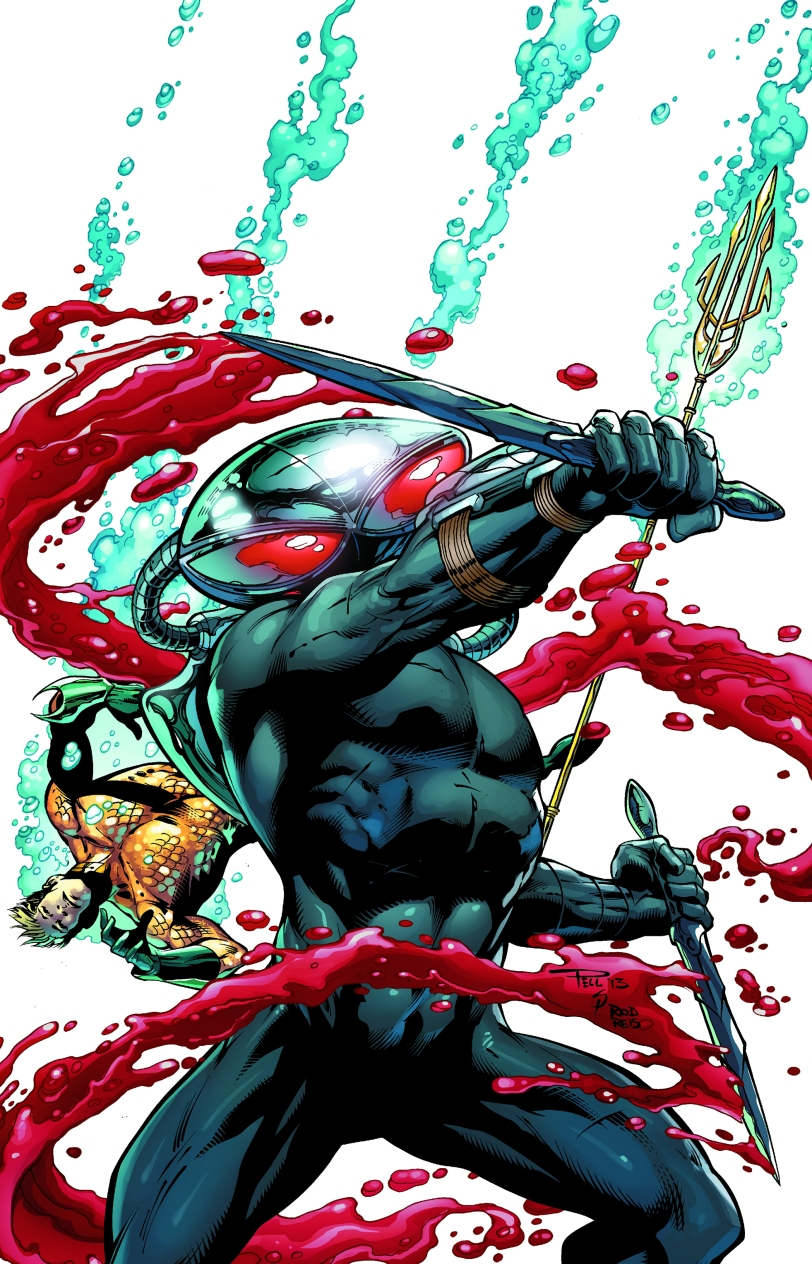 Cover art for Black Manta #1.