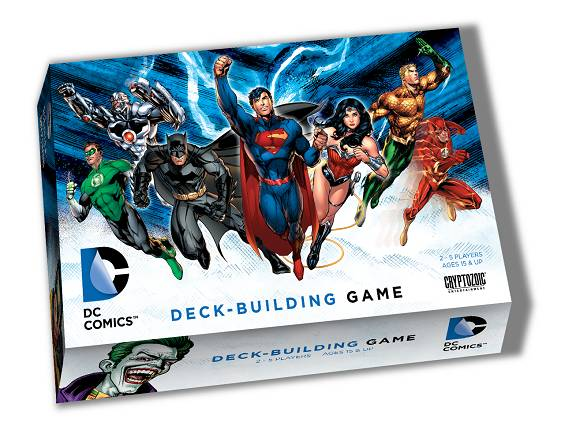 "Packaging for Cryptozoic's ""DC Comics Deck-Building Game"""