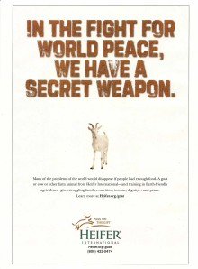 ad Sports Illustrated mag Heifer International approx pg52 06-27-2011
